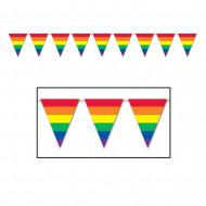 Guirnalda banderines arcoíris