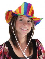 Sombrero vaquero multicolor adulto