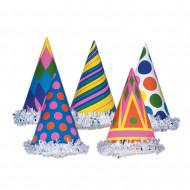 Gorro de fiesta multicolor de cartón