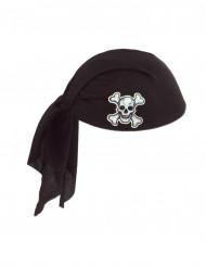 Sombrero pañuelo negro Pirata adulto