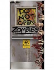 Decoración de puerta laboratorio zombie Halloween