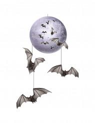 Decoración para colgar luna y murciélagos Halloween