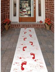 Alfombra con huellas de sangre Halloween