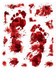 15 pegatinas manchas de sangre Halloween