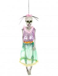 Decoración esqueleto mujer Día de los Muertos 40 cm