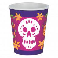 8 vasos 266 ml Día de los Muertos