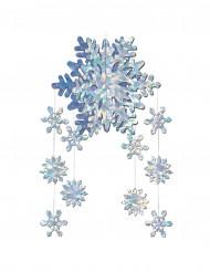Decoración colgante copos de nieve 3D