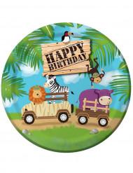 8 Platos cumpleaños safari aventura 23 cm