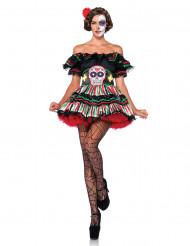 Disfraz esqueleto mejicano Día de los muertos mujer
