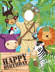Photocall cumpleaños safari aventura