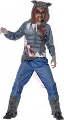 Disfraz Halloween hombre lobo sangriento niño