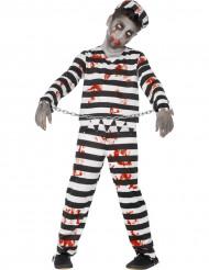 Disfraz zombie preso niño Halloween