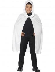 Capa con capucha blanca niño Halloween