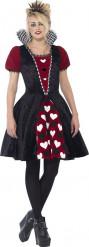 Disfraz princesa de corazones adolescente