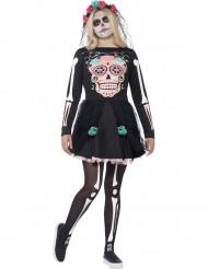 Disfraz esqueleto colorido adolescente Halloween
