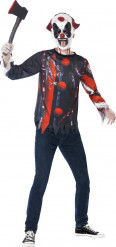 Kit completo Halloween payaso siniestro adolescente