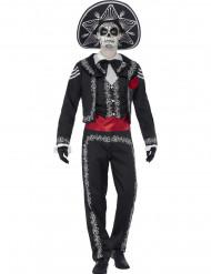 Disfraz esqueleto mejicano hombre Halloween