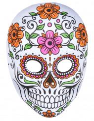 Máscara esqueleto de colores adulto Halloween