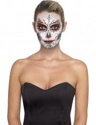 Kit de maquillaje esqueleto de colores adulto