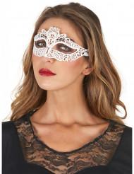 Máscara encaje blanco mujer
