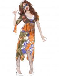 Disfraz zombie hippie mujer Halloween