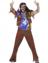 Disfraz zombie hippie hombre Halloween