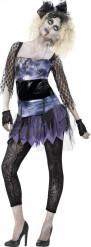 Disfraz zombie años 80 mujer Halloween