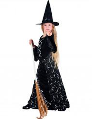 Disfraz bruja media luna niña Halloween