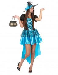 Disfraz bruja azul sexy mujer Halloween