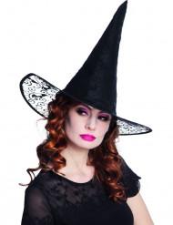 Sombrero bruja puntilla adulto Halloween