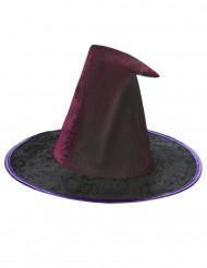Sombrero telaraña violeta mujer Halloween