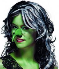Nariz bruja verde adulto Halloween