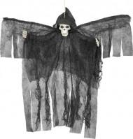 Decoración para colgar ángel negro esquelético Halloween