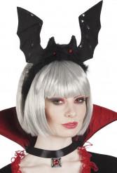 Diadema murciélago negro adulto Halloween