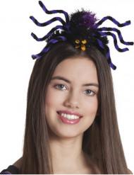 Cofia Halloween araña violeta adulto mujer