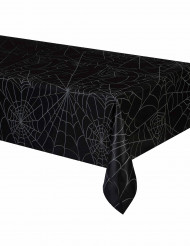 Mantel negro telarañas plástico 137 x 213 cm