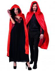 Capa roja terciopelo 120 cm adulto Halloween