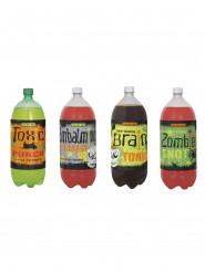 Etiquetas para botellas Monstruos Halloween