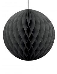 Bola de papel alveolada negra Halloween