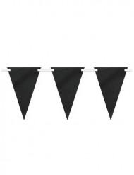 Guirnalda banderines papel negro pesonalizable 2.74 m
