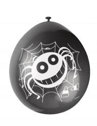 10 globos arañas Halloween