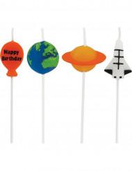 4 Velas de cumpleaños del espacio