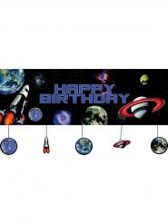 Decoración mural cumpleaños del espacio 50x152 cm