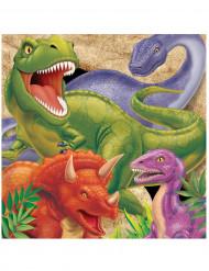 16 Servilletas de papel cumpleaños Dinosaurios 33x33 cm