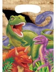 8 Bolsas regalo cumpleaños dinosaurio