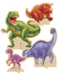 4 Centros de mesa cumpleaños dinosaurio