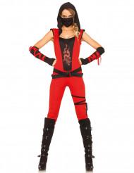 Disfraz ninja mujer rojo