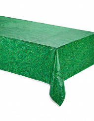 Mantel verde plástico césped 137x274 cm