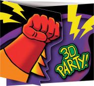 8 Tarjetas invitación cumpleaños Superhéroes