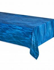 Mantel olas plástico azul océano 137x274 cm